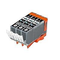 eBARONG キャノン互換インクカートリッジ BCI326 (BK 黒 ブラック) 残量表示機能対応 ICチップ付 3本セット