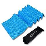 [リベルタ]LIBERTA 寝転び レジャーマット キャンピングマット キャンプマット アウトドアマット 厚手 折り畳み コンパクト 約20mm ブルー