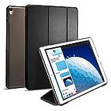 【Spigen】 タブレットケース iPad Pro 10.5 ケース 三つ折 スタンド オートスリープ 機能 高級PUレザー 2017年型 スマート フォールド 052CS21995 (ブラック)