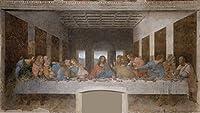 絵画風 壁紙ポスター (はがせるシール式) レオナルド・ダ・ヴィンチ 最後の晩餐 1498年 サンタ・マリア・デッレ・グラツィエ修道院(ミラノ) キャラクロ SGB-010S2 (603mm×339mm) 建築用壁紙+耐候性塗料