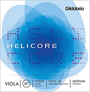 D'Addario ダダリオ ヴィオラ弦 H410 LM Helicore Viola Strings / Set (4-strings) LongScale 【国内正規品】