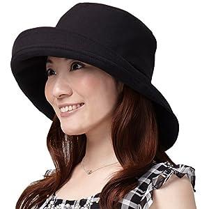 アイメディア 遮熱 & UVカットつば広帽子 A-02BK