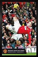 Manchester United - Rooney Goal Framed Poster - 94.5x64cm