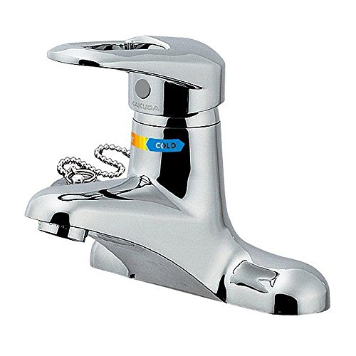 カクダイ 洗面用 台付 給湯制限付 エコ シングルレバー混合栓 2つ穴に取付可能 一般地仕様 185-101