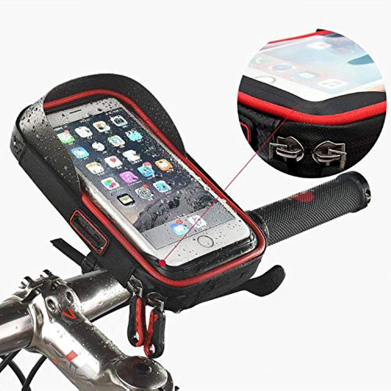 上回るペニー軽蔑自転車用電話ホルダー、ライフ防水バッグ、6インチ携帯用、乗馬用サイクリング用品