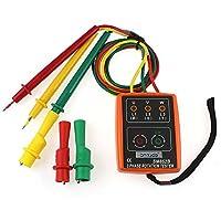 検相器 3相用シーケンス回転試験機 インジケータ検出器 LEDブザー ポータブルポーチ付き TD-LED02 SM852B