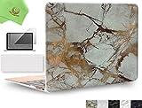 ueswill 3in1Smooth柔らかい手触りマットつや消しハードシェルケースwithシリコンキーボード+スクリーンプロテクターカバーfor MacBook Air +マイクロファイバークリーニングクロス MacBook 12