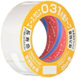 光洋化学 気密防水テープ エースクロス アクリル系強力粘着 片面テープ 剥離紙付 031 白 50mm×20M
