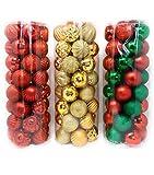 のセット40個クリスマスツリークリスマスデコレーションボールオーナメント、飛散防止ツリーボール。理想的な休日、結婚式やパーティーのデコレーション。レッド、グリーン/レッドorゴールド ゴールド