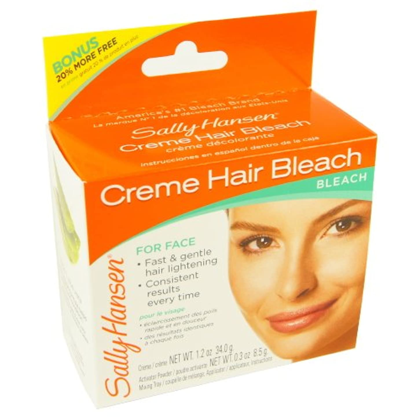 会話型意見従者(6 Pack) SALLY HANSEN Creme Hair Bleach for Face - SH2000 (並行輸入品)