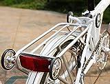 シルバー+ 2イージーホイールのBROMPTON用軽量リアラック Lightweight Rear Rack For BROMPTON in Silver + 2 Easy Wheels
