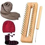 イッピー 木製のスカーフ帽子ソックス羊毛糸編み椅子DIYクラフト木製織物ツールキット