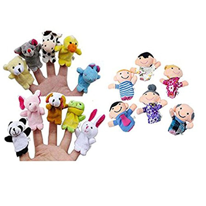 Wffo 教育玩具 16点 指人形 動物 家族 メンバー教育玩具 Wffo - toy