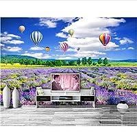 カスタム3D写真の壁紙モダンラベンダーの花の美しい景色背景壁画壁紙-120X100Cm