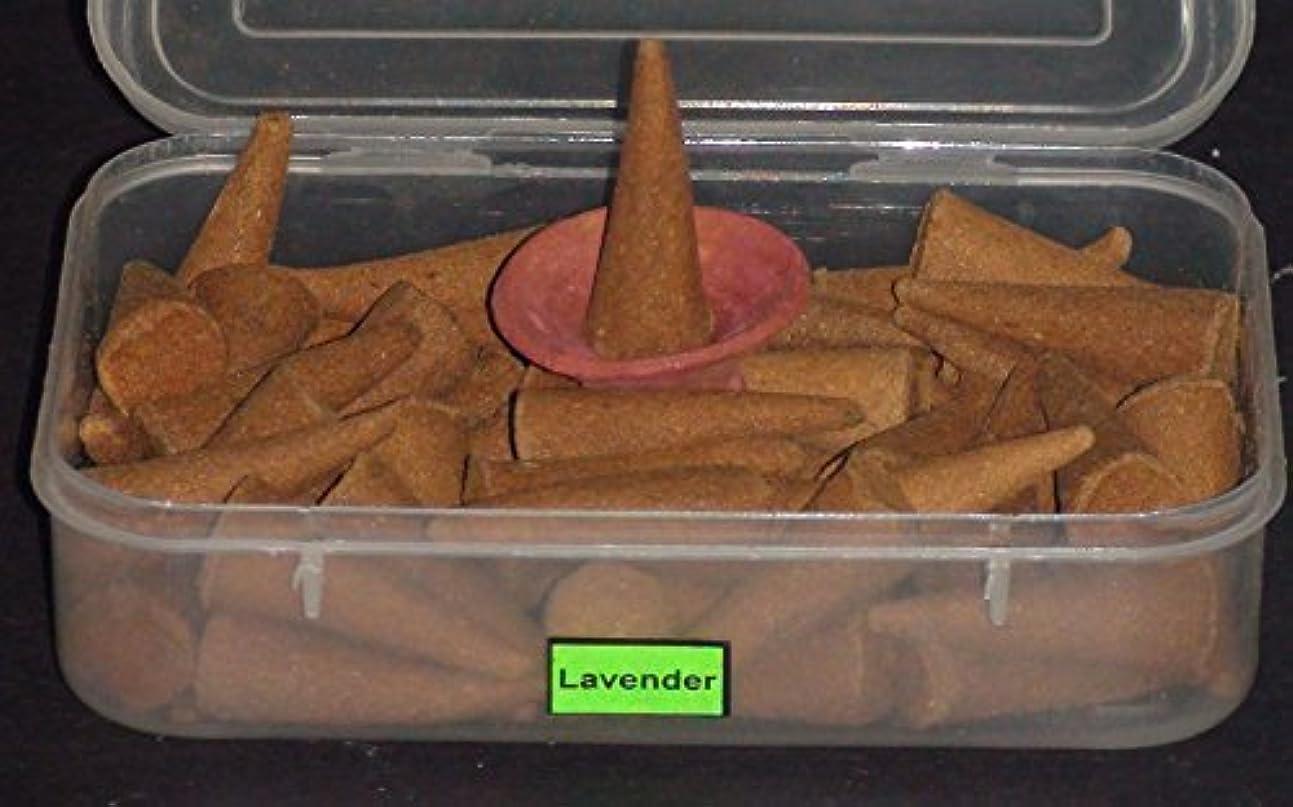 紫のポークなだめるRadhika Dhoop Pure Incense Cones