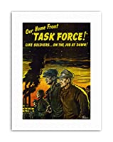 WWII War USA Task Force Home Front New Military Canvas Art Print 第二次世界大戦アメリカ合衆国