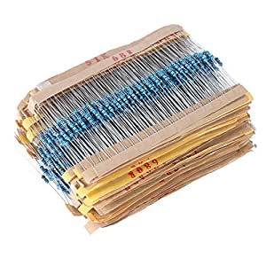 KKmoon 2000個入り 100種 各20個 金属皮膜抵抗器 1/4W 1ohm-1M ohm 組合せキット電子部品
