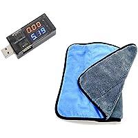OUYOU USB電流電圧テスター 電源メーター電圧モニター チェッカー 計測 測定 便利 小型 持ち歩き 精密機器