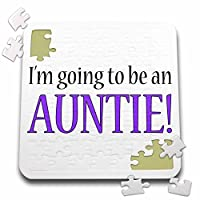 EvaDane - Quotes - Im Going To Be An Auntie Purple - 25cm x 25cm Puzzle (pzl_254684_2)