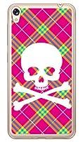 SECOND SKIN スカルパンク ピンク (ソフトTPUクリア) / for ZenFone Live ZB501KL/MVNOスマホ(SIMフリー端末) MASLVE-TPCL-701-J097