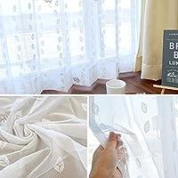 【2300サイズ以上×5柄から選べる!】レースカーテン ジブリ 形状記憶 ミラー効果 洗える 日本製 セミオーダー イージーオーダー 「クロスケ」 Aフック 幅125cm ×丈278cm 1枚単品 【受注生産品】