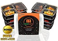 MEALTAINER - Premium 3 Compartment Plastic Meal Prep Containers with Lids. Use for 21 Day Fix Food Diet. BPA FREE Microwavable Bento Box are Reusable Stackable Lunch Boxes for Kids and Adults by MEALtainer