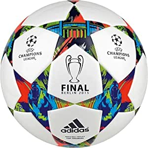 Adidas(アディダス)チャンピオンズリーグ FIFA認定 決勝 レプリカボール FINALE BERLIN Top Training Ball Champions League 2014/2015 white/solar blue/flash green 【並行輸入品】 (5号球)
