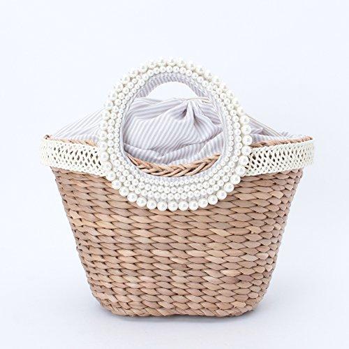 (ミニマム)MINIMUM パールビジュー巾着かごバッグ オフホワイト(003) 00