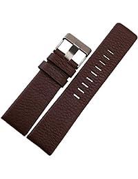 :[M's Labo] ビッグサイズ メンズ腕時計 などに最適 腕時計レザーバンド22mm Dブラウン