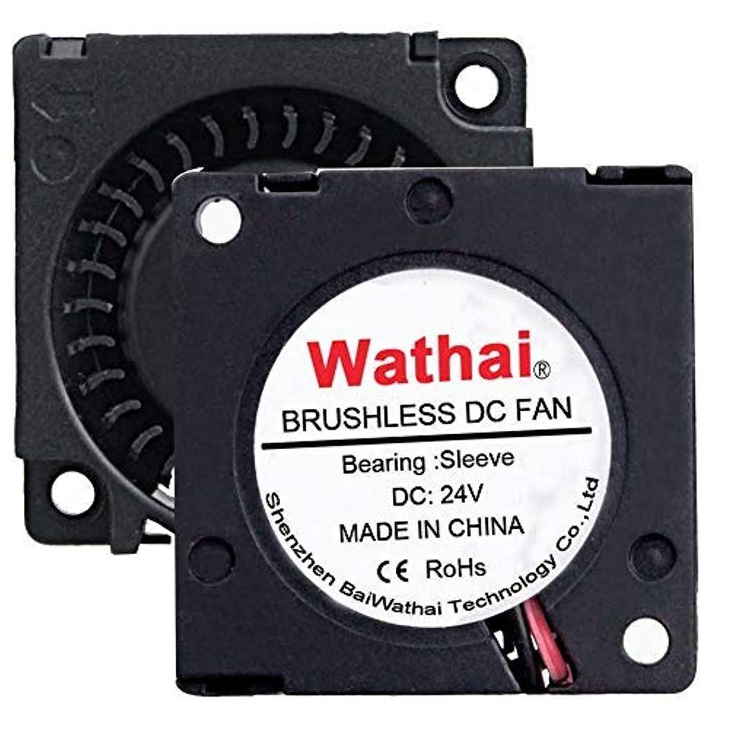 市の花東方叱る2Packs Wathai 30mm 24V Blower Cooling Fan Brushless Exhaust Fan 2pin 30 x 10mm [並行輸入品]