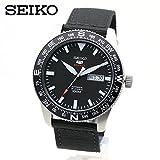 SEIKO SRP667K1 ミリタリー SEIKO5 SPORTS 機械式 腕時計 ブラック 黒色 ナイロンストラップ 自動巻き 手巻き 裏スケルトン [並行輸入品]