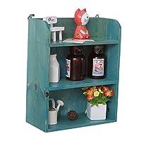 生活用品ラック 3ティアウォールラック食器棚壁掛けキッチン棚バスルーム化粧品収納ラック25 * 12 * 31センチメートル - キャビネット、ラック&シェルフ (色 : B)