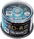 山善(YAMAZEN) キュリオム フルハイビジョン録画対応 BD-R (1回録画用) 50枚スピンドル 4倍速 25GB BD-R50SP