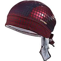 VBIGER Sweat Wicking Beanie Skull Cap Quick Dry Adjustable Cycling Hat Wrap Rag Men Women
