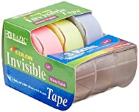 BAZIC Invisibleテープ、0.75X 500インチ、カラー 3 Per Pack