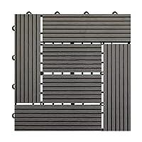 ウッドパネル 人工木 樹脂 腐りにくいウッドデッキ 27枚入りジョイント式 2.4平米用 30×30cm正方形 3タイプ 全6色 ガーデン ベランダ庭 玄関使用可能