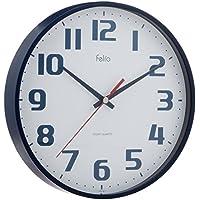 Felio(フェリオ) 壁掛け時計 チュロス アナログ表示 連続秒針 ネイビーブルー FEW182NB-Z