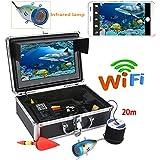 Yuwen 7インチ TFT 20M 1000tvl 水中釣りビデオカメラキット HD WiFi ワイヤレス iOS Androidアプリ用 ビデオ録画と写真撮影に対応