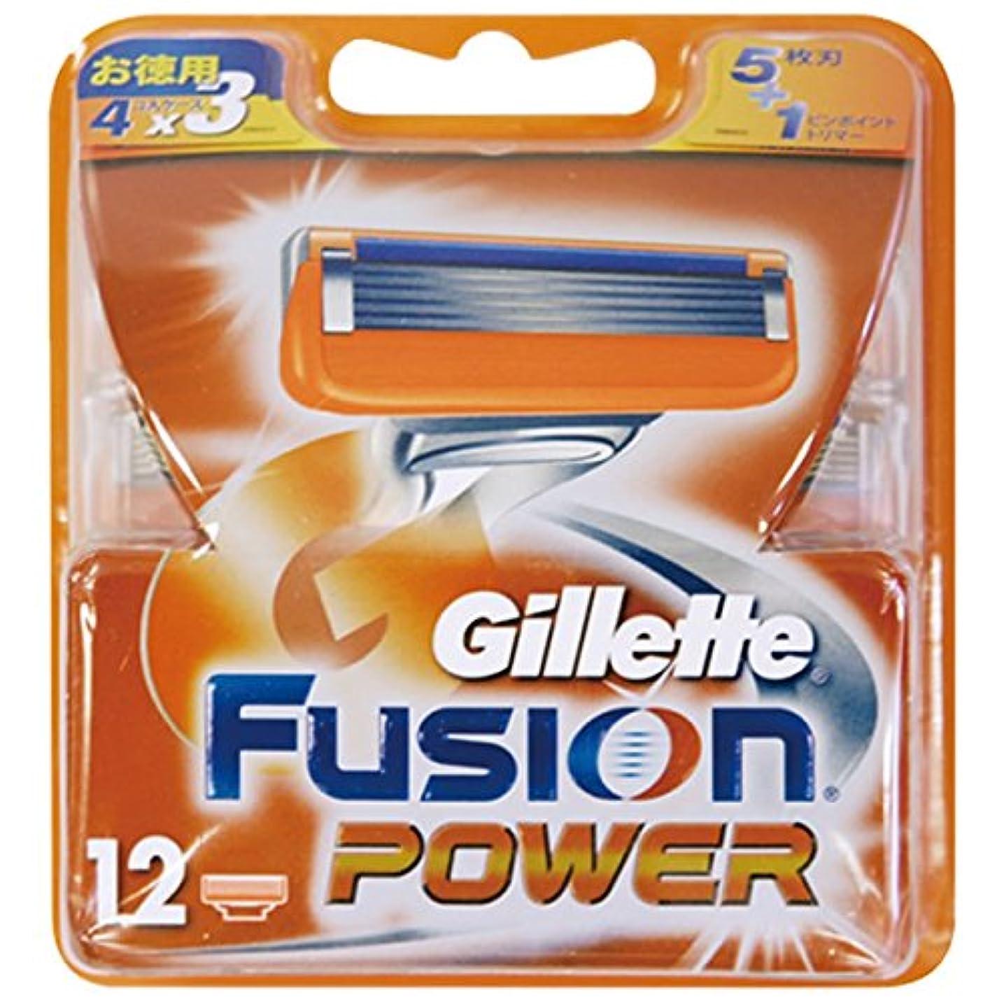 賞いつか風変わりなジレット フュージョン5+1パワー替刃 12B × 3個セット