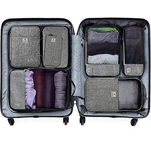 スーツケースのスペースを60% 節約! 探す時間も削減!スマートパッキングキューブバッグ「VASCO」ヴァスコ (グレー)
