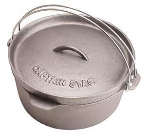 キャプテンスタッグ バーベキュー用 鍋 ダッチオーブン 25cm M-5502M-5502