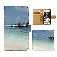 (ティアラ) Tiara Motorola Moto G5 XT1676 スマホケース 手帳型 海 手帳ケース カバー 夏 海水浴 海岸 サマー マリン F0151040097203