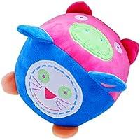 4面新しいBorn HightクラスRattle Ball Early Educational HandトレーニングベビーAnimal Plush Toy Hand Bell
