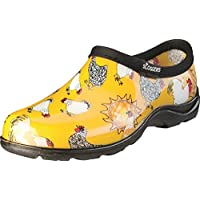 Sloggers Women's Waterproof Rain and Garden Shoe with Comfort Insole, Chickens Daffodil Yellow, Size 10, Style 5116CDY10
