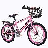 マウンテンバイク ピンクの子供用自転車 屋外の王女用自転車 美しい自転車 20/22インチスピード調節可能な学生用子供用自転車 女の子用 (Color : Pink, Size : 22inch)