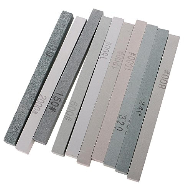 Lovoski 10本サイズ ジュエリー作り用品 研磨砥石 光学ガラス ストーン削り 研磨 実用