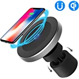 Funxim Magnetic Wireless Car Charger W5, Air Vent and Dashboard Mount Holder Cradle Qi Standard Compatible with Any Qi Enable