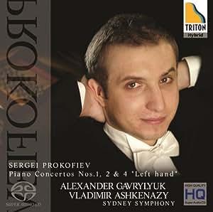 プロコフィエフ:ピアノ協奏曲第1番、第2番、第4番「左手のための」