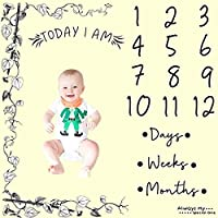 zoylink写真プロップ毛布Monthly背景写真バックドロップ写真Blanket for Infant