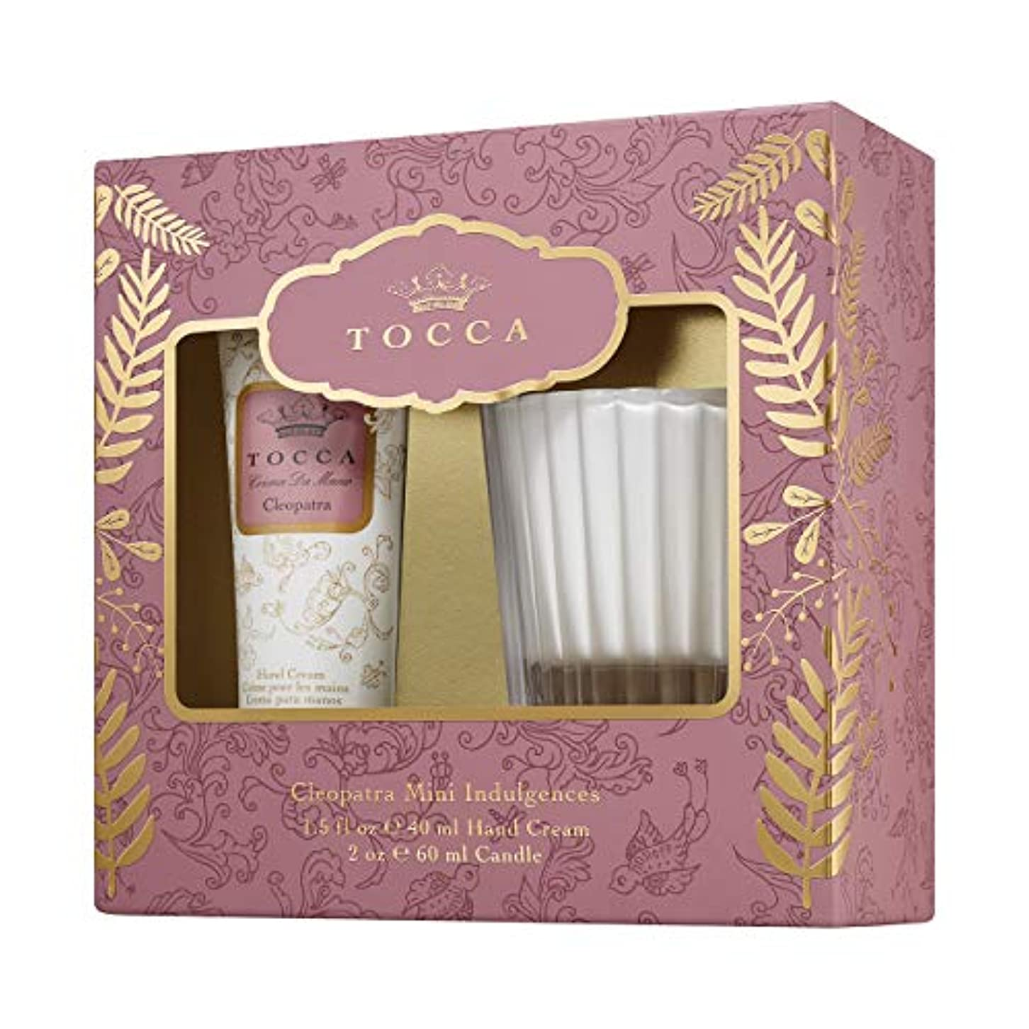 ウッズ移動架空のTOCCA ホリデーセットパルマ クレオパトラの香り(ハンドクリームとキャンドルの贅沢ギフト)